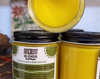 Ancient Blends 'Sacred' Hair, Body and Beard Butter 9ozs