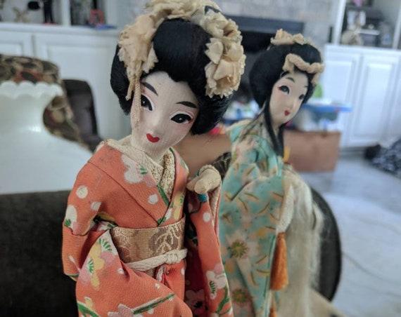 Geisha Doll, Geisha figurine, Vintage Geisha Doll music boxes