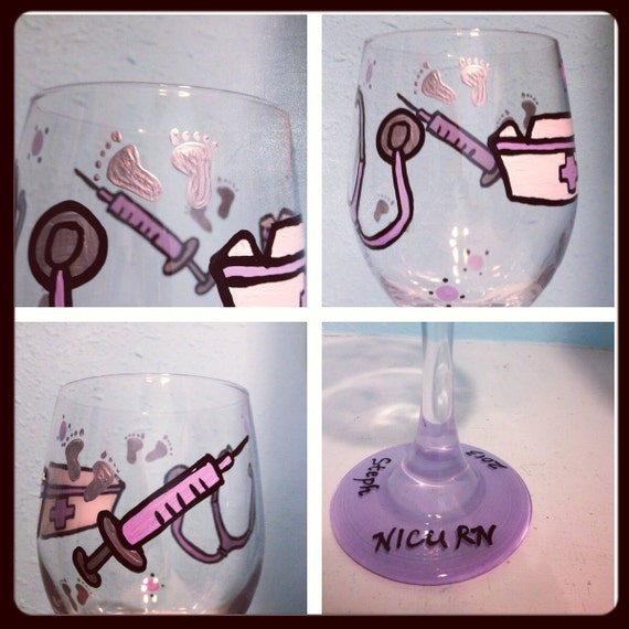 Pediatric Nurse Wine Glass