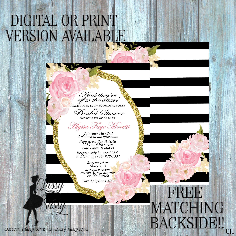 Bridal Shower invitation, Kentucky Derby Invitation Derby party ...