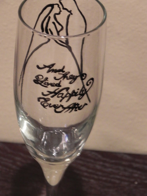 Happily Ever After Champagne Flutes