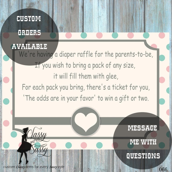 Diaper Raffle Ticket Printable, Diaper Raffle Insert, Diaper Raffle Invitation, Diaper Raffle Game, Gender Neutral Raffle Ticket 066