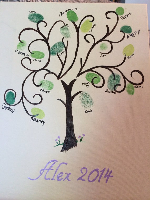 Graduation gift Fingerprint tree guestbook