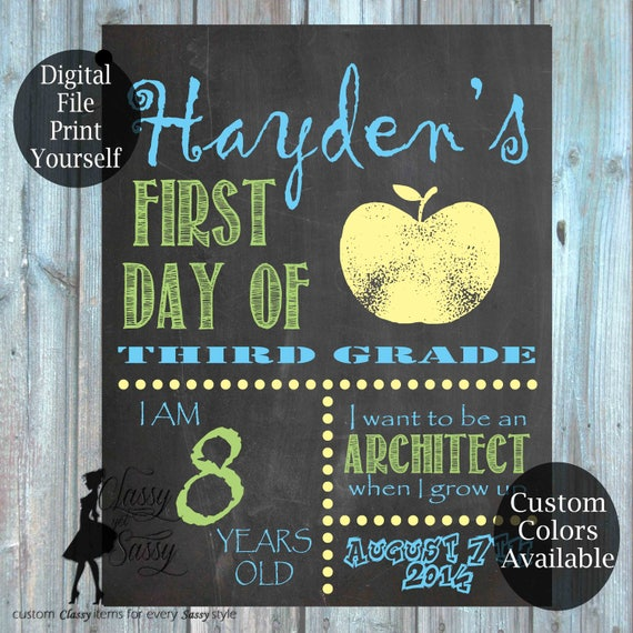 First Day Of School Chalkboard Sign 162