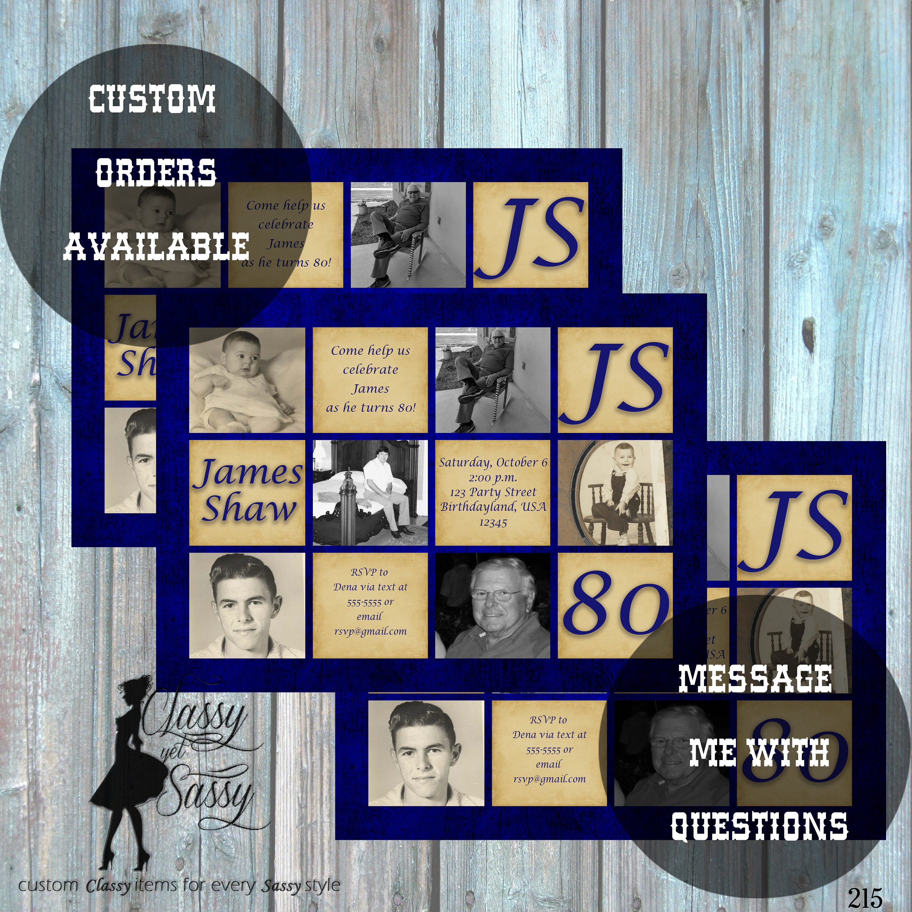 80th Birthday Invitation For Men Surprise Party