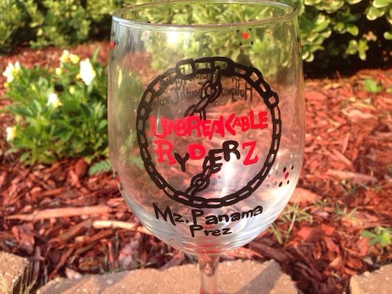 Custom logo created on  Wineglass