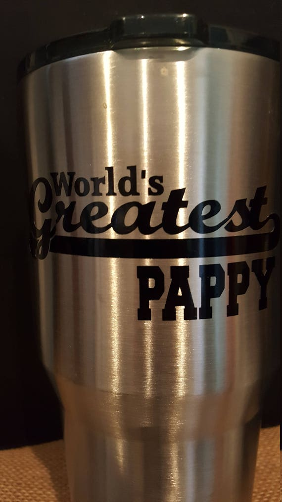 Worlds Greatest Pappy Sticker Stainless Steel Tumlber, World's Greatest Pappy Gift, World's Greatest Pappy present