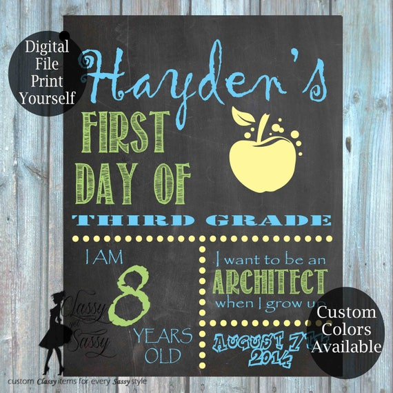 First Day Of School Chalkboard Sign 163