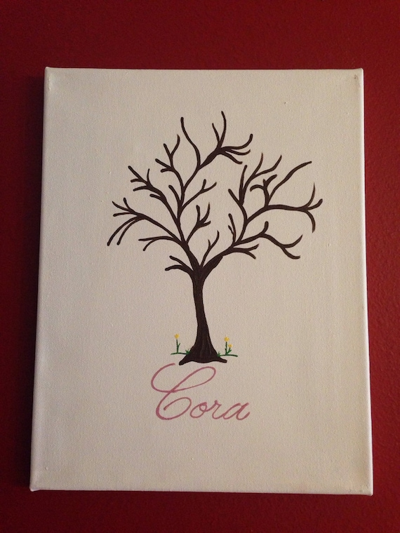 Baby Shower Guestbook alternative finger print tree guestbook alternative fingerprint stamp tree wedding shower fingerprint tree