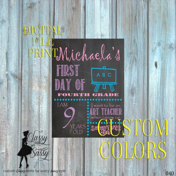 First Day Of School Chalkboard Sign 040