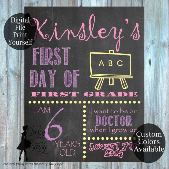 First Day Of School Chalkboard Sign 172