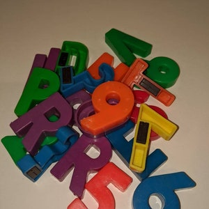 Vtg Fisher Price Little People School 923 — Alphabet Individual Letters Numbers