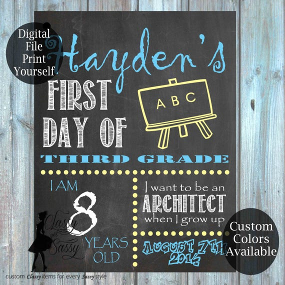 First Day Of School Chalkboard Sign 160