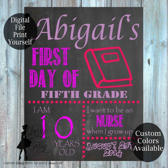First Day Of School Chalkboard Sign 152