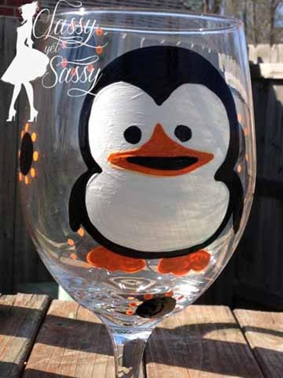 Penguin Wine Glass