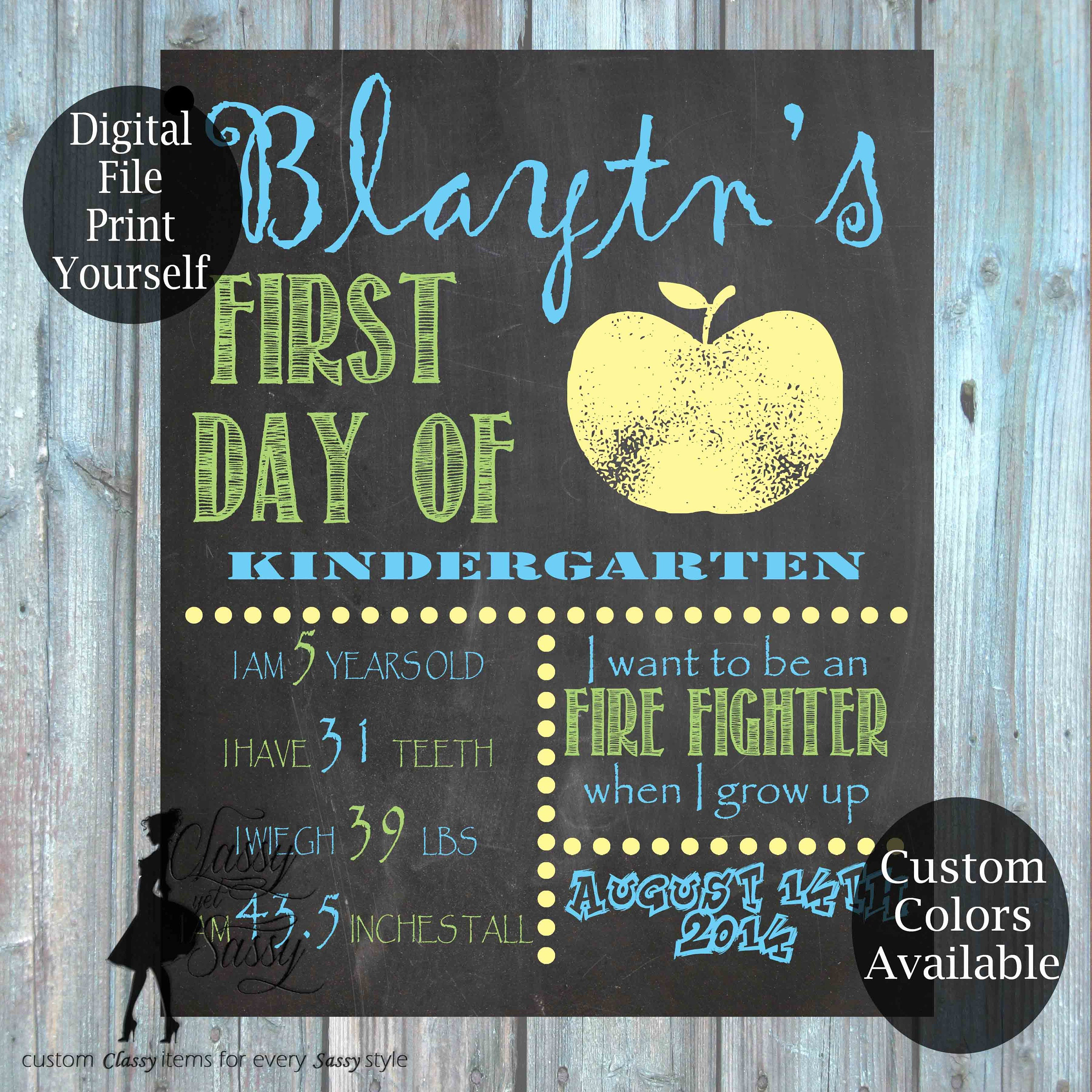 first day of school chalkboard sign 157