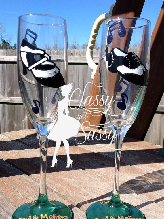 Ballroom Dancing Champagne Flutes