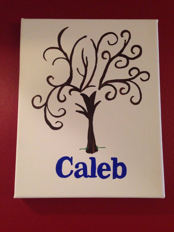 Guest book alternative Baby Shower Guest Book alternative fingerprint stamp tree