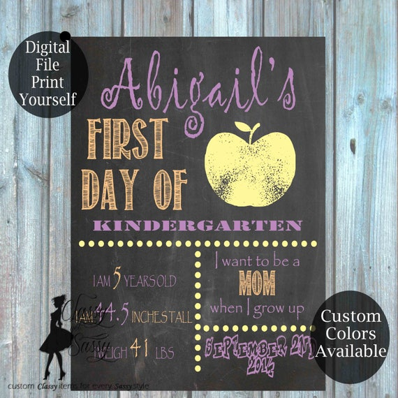 First Day Of School Chalkboard Sign 153