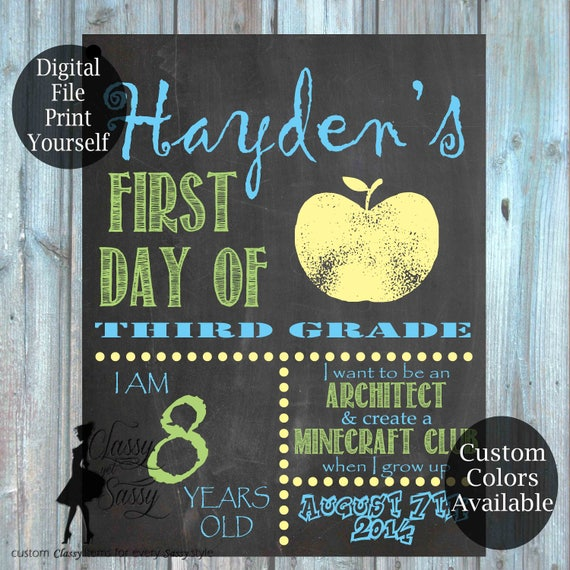 First Day Of School Chalkboard Sign 175