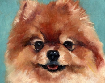 Custom Pet Portraits in Oils on Stretched Canvas