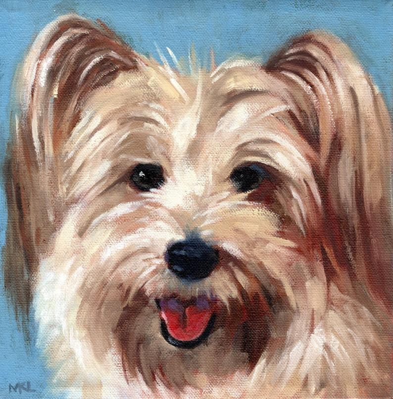 COMMISSIONED Custom Dog Portraits Animal Oil Portraits image 0