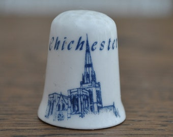 29586b5e68f6b Vintage china thimble - Chichester Cathedral