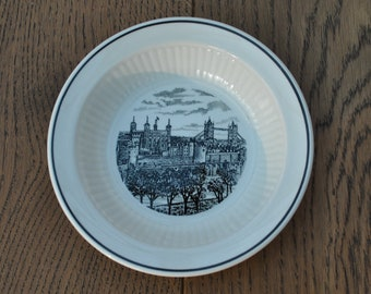 Royal Copenhagen Year 1000 Building of the famous frontier rampart Danevikre Vintage china plate
