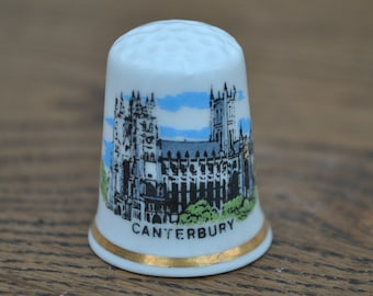 5d69e36c9a472 Vintage china thimble - Canterbury Cathedral - Birchcroft