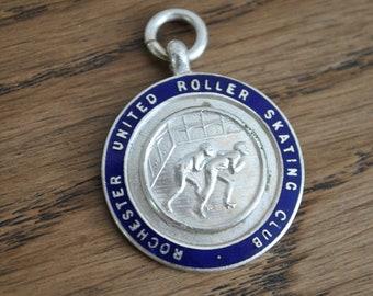 Vintage medal - Rochester United Roller Skating Club - Silver