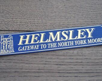 Souvenir Helmsley Vintage leather bookmark North Yorkshire Landmarks