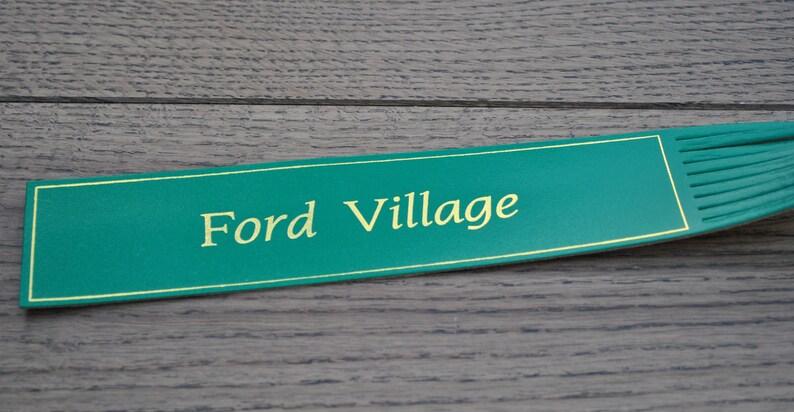 Northumberland Vintage leather bookmark Souvenir Ford Village
