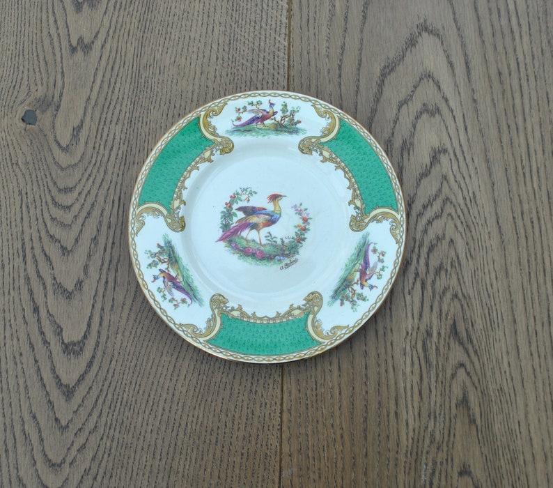 Bird Vintage china side plates Myotts