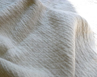 ECO FRIENDLY Natural heavy linen fabric with softening