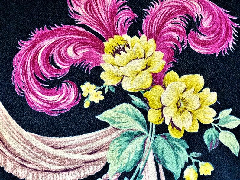 Barkcloth Tropical Christmas Vintage Barkcloth Fabric for the Pillow Makers!