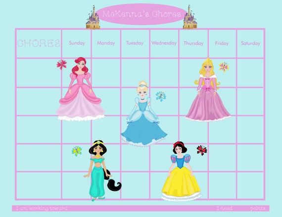Disney Princess Printable Responsibility Chart
