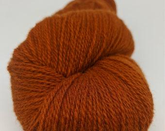 KAUNI  Wool Yarn, Worsted Weight 8/2  2ply, 100% wool, rusty