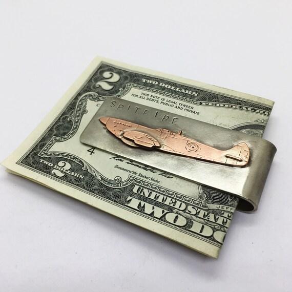 Stainless Steel Letter B Initial Royal Monogram Engraved Money Clip Credit Card Holder