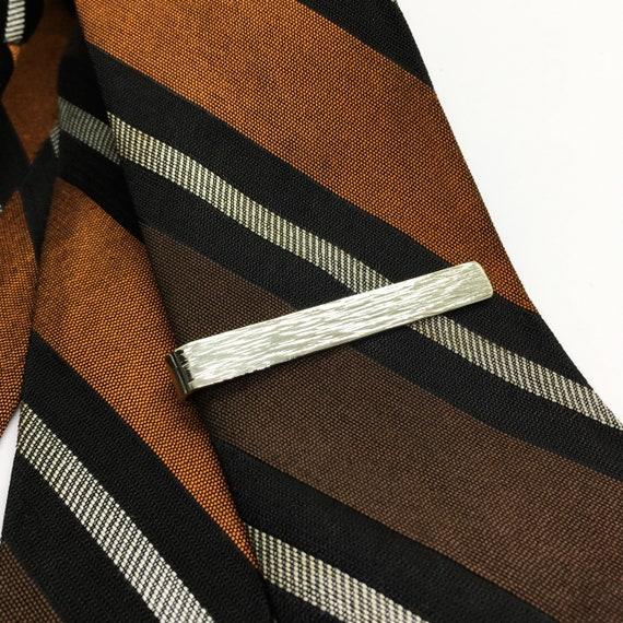 Nickel silver hammered tie clip