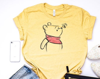 24eb7923f Winnie The Pooh Sketch T-Shirt / Disney World Shirt / Piglet Eeyore Tigger  Tee / Disney Shirts for Women Men Boys Girls Kids