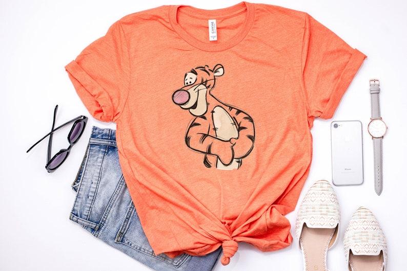78f3d80322f07 Tigger Sketch T-Shirt / Disney World Shirt / Piglet Eeyore | Etsy