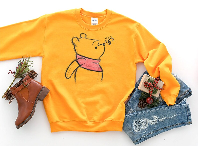 02b6222ea7620 Winnie The Pooh SketchSweatshirt / Disney World Shirt / Piglet | Etsy