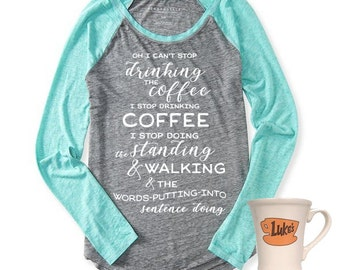 Gilmore Girls Tee Design, Coffee Coffee Coffee, Gilmore Tee, SVG, Gilmore Girls, DIY Decal, Cuttable, Vinyl Designs