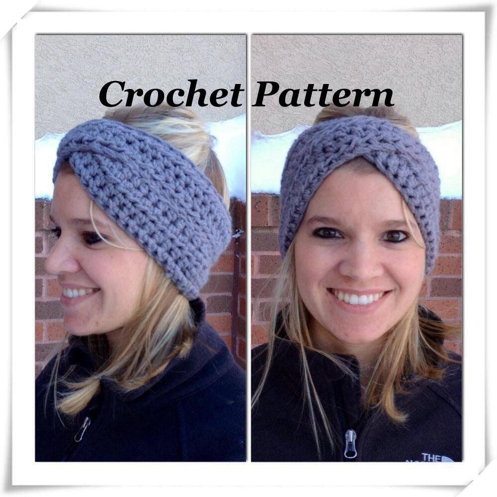 Crochet Pattern Crossover Headband Crochet Winter Headband Etsy