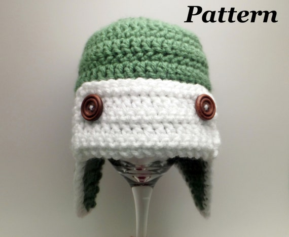 CROCHET PATTERN  Crochet Earflap Bomber or Aviator Hat  540cbd402e0