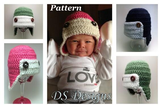 Pattern Crochet Earflap Bomber Or Aviator Hat Crochet Winter Etsy
