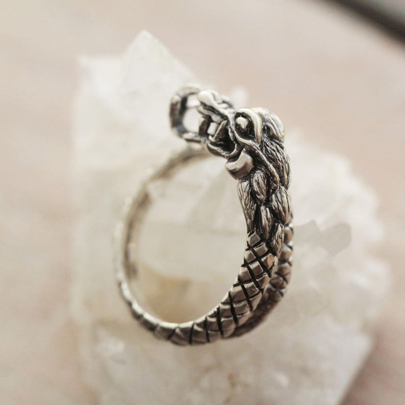 a41faa7826c9 Dragon Ring Sterling Silver Jewelry Statement Unique Viking