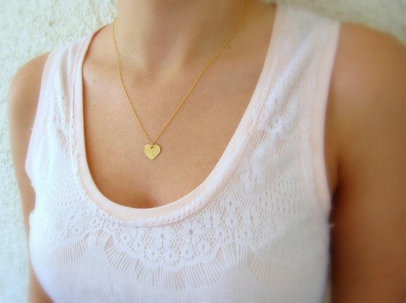 Heart necklace Simple necklace Minimalist necklace Gold filled necklace Gold necklace Dainty necklace Gold heart necklace Boho