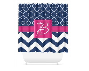 Personalized Shower Curtain Monogram Design Your Own