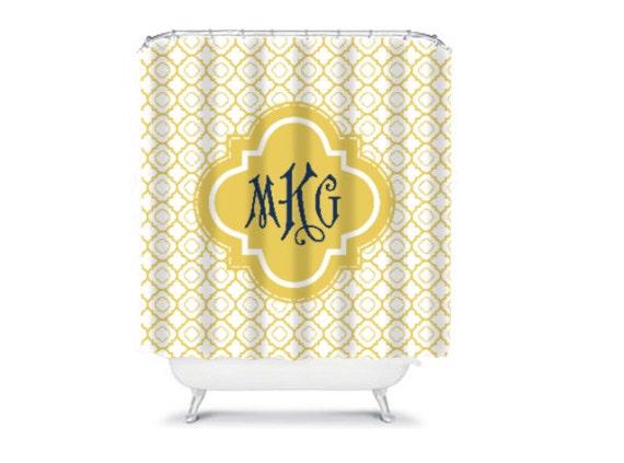 Personalized Shower Curtain Monogram